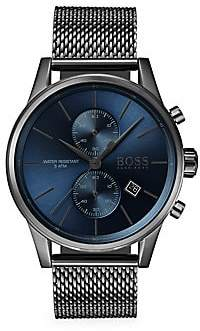 HUGO BOSS Jet Chronographic Ionic Plated Grey Steel Watch