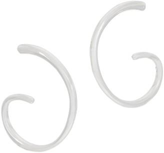 Rlm Jewelry By Robert Lee Morris RLM White Bronze Shell Hoop Earrings