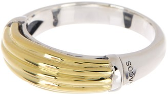 Lagos Sterling Silver & 18K Yellow Gold Rope Stack Ring - Size 7