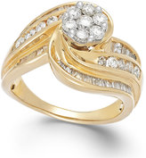 Macy's Diamond Swirl Ring in 10k Gold (1-1/4 ct. t.w.)