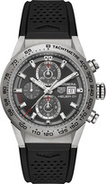 Tag Heuer CAR208Z.FT6046 Carrera titanium and rubber chronograph watch