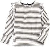 Osh Kosh Toddler Girl Striped Flutter Long Sleeve Top