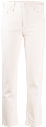 Mother Cropped High-Rise Jeans