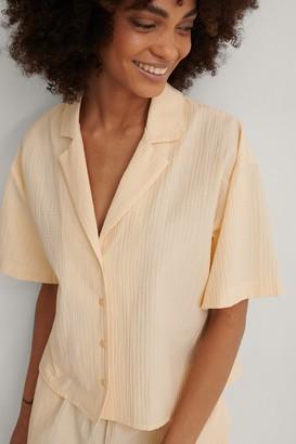 NA-KD Structured Short Sleeve Organic Lounge Shirt