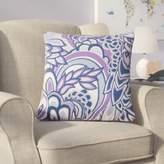 Armistead Floral Cotton Throw Pillow Harriet Bee Color: Plum