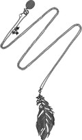 Alex Monroe Ruthenium-plated sterling silver crow feather necklace