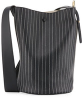 Derek Lam 10 Crosby Grove Stitched Leather Bucket Bag, Black