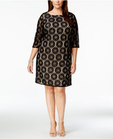 Jessica Howard Plus Size Lace Shift Dress