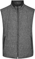 Corneliani Grey Reversible Wool Blend Gilet