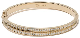 Georg Jensen 18kt yellow gold Halo brilliant cut diamond bangle