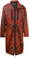 DSQUARED2 leopard print parka jacket - men - Polyamide/Polyurethane - 46