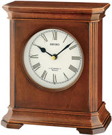 Seiko Brown Desk/Table Clock With 12 Hi-Fi Melodies And Chime Qxw238blh