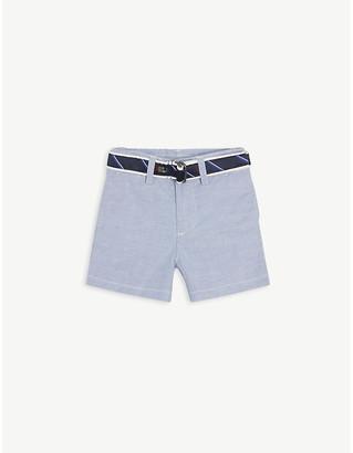Ralph Lauren Belted cotton-blend Oxford shorts 3-24 months