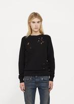 R 13 Shredded Zip Side Sweatshirt