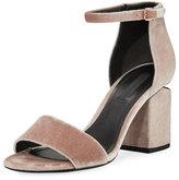 Alexander Wang Abby Velvet Block-Heel Sandal