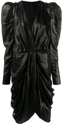 Isabel Marant Ruched Puff-Sleeve Mini Dress