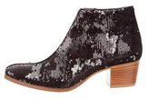 Sigerson Morrison Sequined Round-Toe Ankle Boots w/ Tags