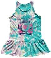 Rowdy Sprout Baby Girl's Peace & Love Tie-Dye Tank Dress