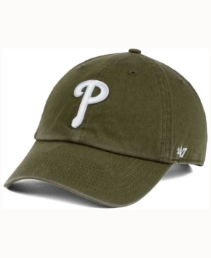 '47 Philadelphia Phillies Olive White Clean Up Cap