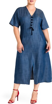 Standards & Practices Standard & Practices Meme Tencel Midi Dress