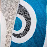 """Persian Rug Modern Trendz Collection 0327 Rug, Turquoise, 5'2""""x7'2"""""""