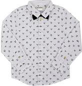 Billy Bandit Dog-Print Cotton Poplin Shirt-WHITE