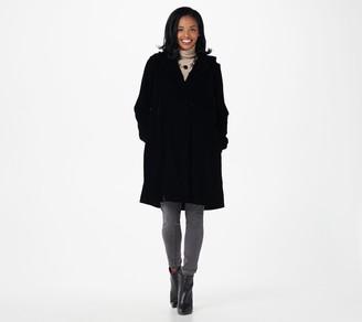 The Muses Closet Velvet Snap Front Coat