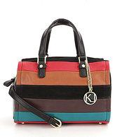Kate Landry Pieced Stripe Satchel