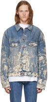Off-White Blue Oversized Denim Jacket