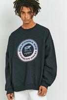 Uo Wavey Black Overdyed Sweatshirt