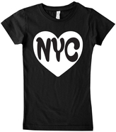 Micro Me Black 'NYC' Fitted Tee - Infant Toddler & Girls