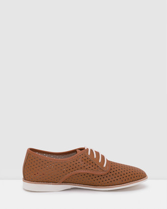 Roolee Women's Brown Brogues & Loafers - Derby Punch Shoes - Size One Size, 37 at The Iconic