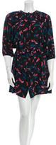 Tucker Silk Butterfly Print Dress