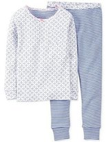 "Carter's Girls ""Anchor"" Two Piece Pajama Set Blue?white"