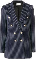 Lanvin double-breasted striped blazer - women - Acetate/Cupro/Wool/zamac - 36