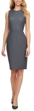 Calvin Klein Foulard-Print Sheath Dress