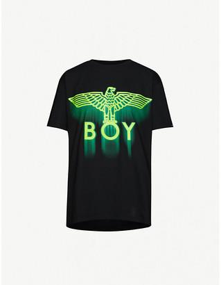 Boy London Ghost logo-print cotton-jersey T-shirt