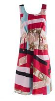 Kenzo Cinched Printed-silk Dress