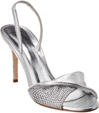 Giuseppe Zanotti Rosaline Crystal & Metallic Leather Sandal