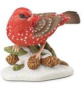 Lenox Christmas 2016 Strawberry Finch Bird Figurine Annual Garden Limited Edition COA