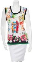 Dolce & Gabbana Portofino Print Sleeveless Top