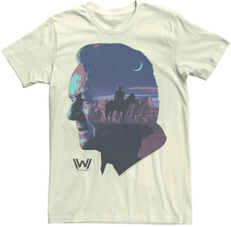 Rob-ert Men's Westworld Robert Ford Silhouette Fill Tee