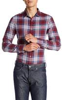 Original Penguin Roll Sleeve Plaid Heritage Slim Fit Shirt