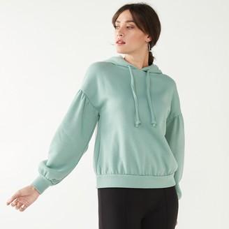 Nine West Women's Pleat-Sleeve Sweatshirt Hoodie