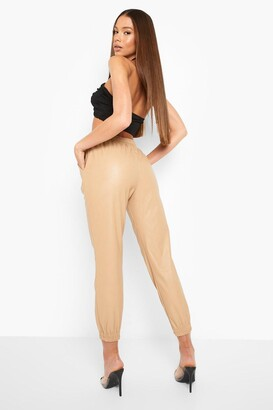 boohoo Leather Look Relaxed Fit Joggers