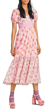 LoveShackFancy Angie Cotton Printed Midi Dress