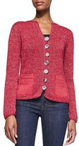Pure Handknit Bay Breeze Multi-Button Cardigan, Plus Size