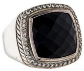 David Yurman Onyx and Diamond Albion Ring