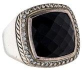 David Yurman Onyx and Diamond Albion Ring