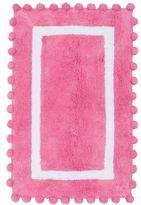 Pom-Pom Bath Mat, Bright Pink